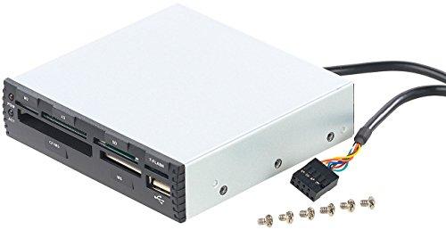 """Xystec Cardreader intern: Interner 3,5""""-Card-Reader CR-560i mit Front-USB-2.0, schwarz (Kartenleser intern)"""