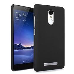 Kaira rubber_Redminote3_2 Rubberised Hard Back Case Cover For Xiaomi Redmi Note 3 - Black