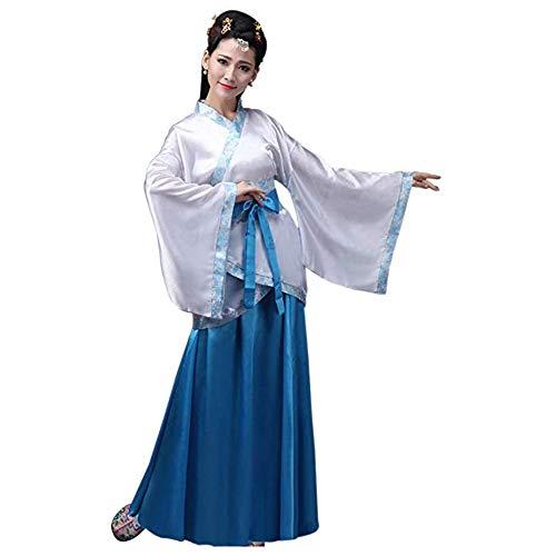 Chinesen Kleid Kostüm - Xinvivion Chinesisch Hanfu - Uralt Traditionell Tang Suit Fairy Rock Kostüm Bühnenperformance Kleid für Damen