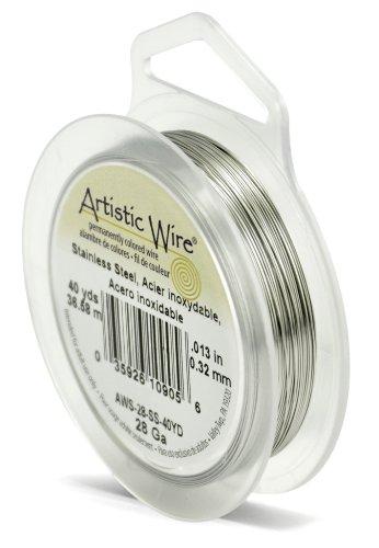 Artistic Wire Fil en Acier Inoxydable Calibre 28 40 m