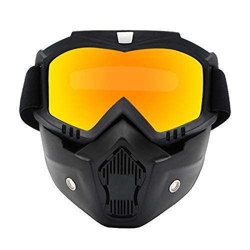 MaxAst Sportbrille Polarisiert Schnee Brille Herren Damen Schutzbrille Antibeschlag Rot