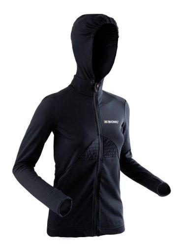 X-Bionic Damen Jacke Outdoor CF Lady Beaver Jacket Full Zip W Hood, Black, L, O020424 Fleece Full Zip Hood