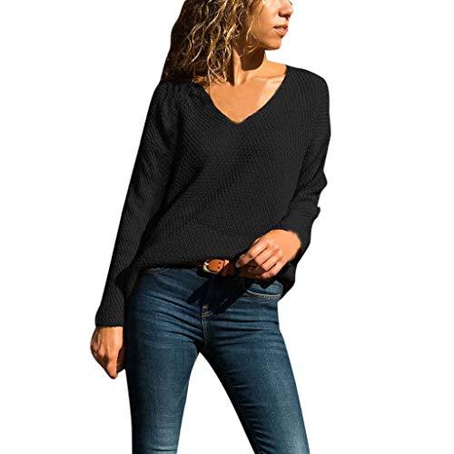 Preisvergleich Produktbild Sweater Damen Casual Langarmshirt Elegant Hoodie Langarm Lang Tunika Draußen Jumper für draußen von ABsoar
