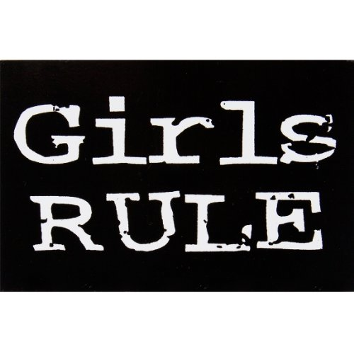 Mädchen Regel Aufkleber