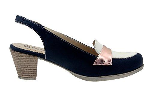 Chaussure femme confort en cuir Piesanto 4434 comfortables amples Marino