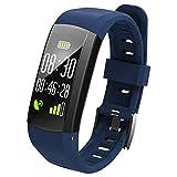 OOLIFENG Fitness Armband, IP68 Wasserdicht Running GPS-Geräte Aktivitätstracker Uhr Mit Pulsmesser Zum Draußen Abenteurer,Blue