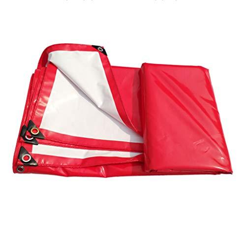 Voiles d'ombrage Rouge et Blanc PVC Top Toile Toile Imperméable Etanche à la Célébration Tente Rollsnownow (Size : 4m*6m)