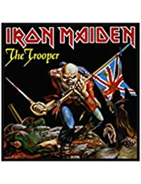 Classic rock guitar iron maiden coutures-the classic-trooper rock guitar iron maiden patch-tissé & licence!
