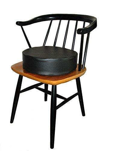 BARFUSS-Kinder-Sitzerhhung-Lederoptik-rund-in-verschiedenden-Farben-abwaschbar-Sitzhilfe-fr-Baby-Hochstuhl-Sitzerhhung-ab-2-Jahre-hellbraun