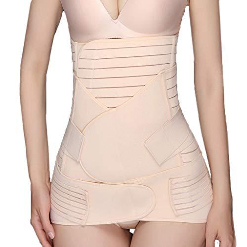 Bibao Bauchgürtel nach der Geburt zur Unterstützung der Erholung von Bauchgürtel, 3-in-1, postnatales Körperform-Korsett für Frauen, Shapewear Bauchbinder Taille Trainer - Taille Unterstützung Strumpfhosen
