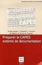Préparer le CAPES externe de documentation