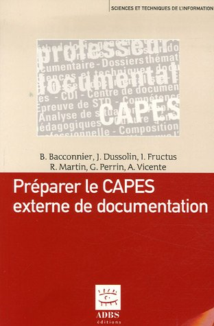 Préparer le CAPES externe de documentation