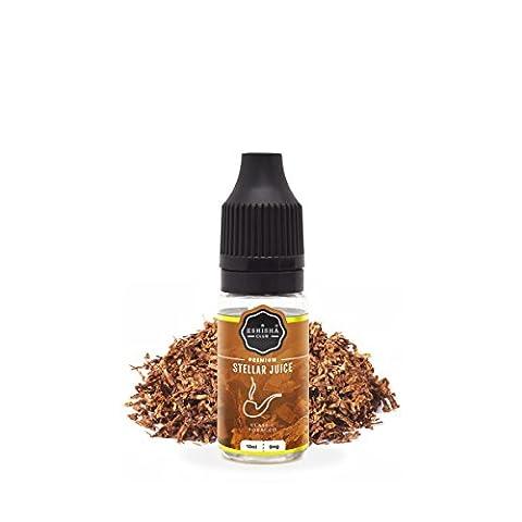KNUQO STELLAR Juice 10ml - Tabak Klassik-Geschmack   e-Zigarette   Wiederaufladbare Elektronische Zigarette Liquid   Nikotinfrei   e Shisha   eShisha Club