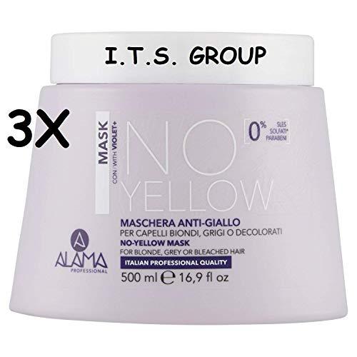 Scheda dettagliata 3 CONFEZIONI DI Alama Professional No-Yellow Mask - 500 ml