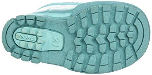Viking Unisex-Kinder Plask Gummistiefel Blau (Turquoise)