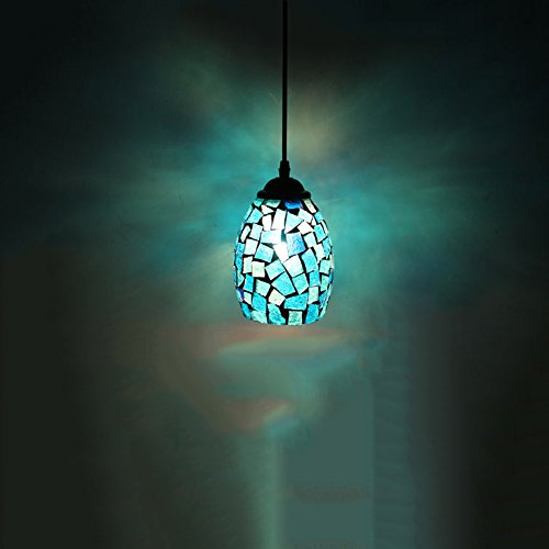Frideko Modern Mosaic Lamp Shade Ceiling Pendant Light for Living Room Bar Pub Restaurant Coffee Shop (Type B)