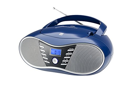 Cd-player Dual (Dual P 60 BT Portable Boombox (UKW-Radio, CD-Player, Bluetooth für Audiostreaming, USB-Anschluss) Blau)