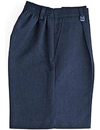Escuela Niños uniforme resistente ajuste mitad parte trasera elástica pantalones cortos todos los tamaños gris