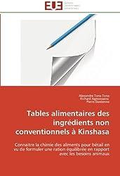 Tables alimentaires des ingrédients non conventionnels à Kinshasa: Connaitre la chimie des aliments pour bétail en vu de formuler une ration équilibrée en rapport avec les besoins animaux