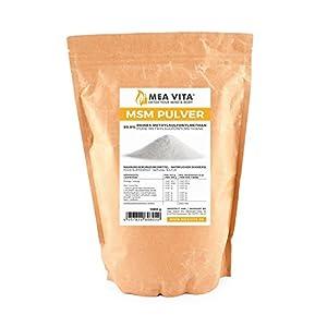 MeaVita MSM Pulver 99,9 Prozent rein, Methylsulfonylmethan, 1000 g