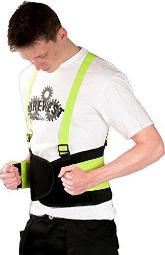Warnschutz Rückenstütze- Rücken- Aktivbandage- Rückenstützgurt-Gurt stützt insbesondere Rücken, Bauchmuskulatur, Lendenwirbel und Rückgrat- auch unter Kleidung tragbar Größen S-XL (XL)