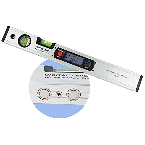 Winkelmesser Lineal Werkzeug Gauge Wasserwaage 42cm 420mm 41,9cm lang digitalem Neigungsmesser protactor mit magnetischer Unterseite