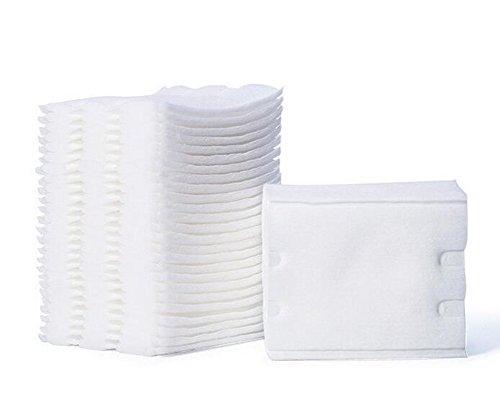 200pcs Stück fusselfreie Wischtücher Facial Puff Kosmetik Baumwolle Pads Weiß -