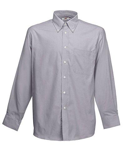 F600 Men´s Long Sleeve Oxford Shirt, Farbe:Oxford Grey;Größen:3XL 3XL,Oxford Grey -