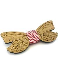 GIGETTO Noeud papillon en bois, Fait main, Femme, Limited Edition DREAMS