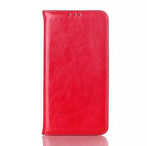 LG G3 Case,einfarbig Leder - Etui Für Magnetische Folio Cover Fall Kartenschlitz Für Lg - G3 ( Color : Red , Size : LG G3 ) Red