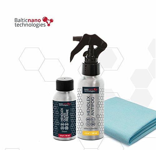 Anti Niebla Spray Antivaho Espejo Baño Coche Ventana Hendlex 100ml | Universal Antiniebla Con kit De Limpieza para Moto y Casa Vaso y Plástica Superficie Casco