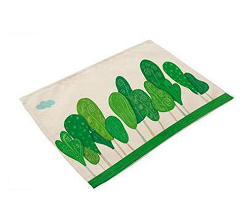 Blatt-wein-untersetzer (SYT Placemat Miracille Tropische Pflanze Blätter Drucken Tischset Baumwolle Leinen Tischset Geschirr Untersetzer für Abendessen Zubehör Tasse Wein Matte, g)