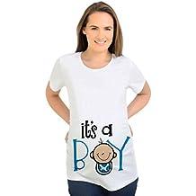 Binhee Interesante Precioso Ropa De Maternidad Chico Imprimir Camiseta De Embarazo