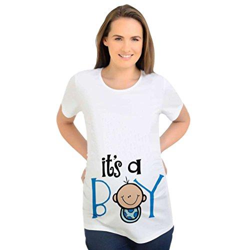 Binhee interessante bella donna incinta abbigliamento stampa modello ragazzo t-shirt premaman