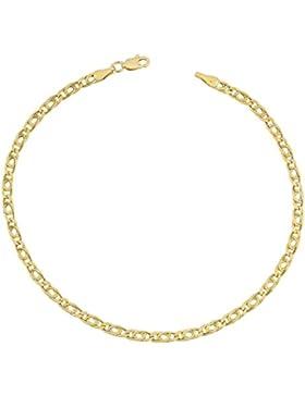 14 Karat / 585 Gold Tigeraugen Pfauenauge Gelbgold Kette - Breite 2.20 mm - Länge wählbar