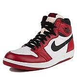 Nike Herren Air Jordan 1 High The Return Turnschuhe, Rot/Schwarz/Weiß (Uni-Rot/Schwarz-Weiß), 43 EU