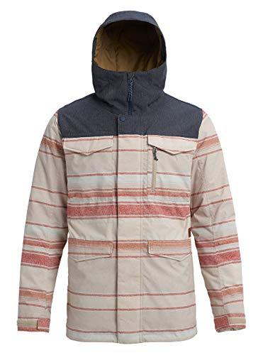 Burton Herren Covert Snowboard Jacke, Pelican Tusk Stripe/Denim, S -