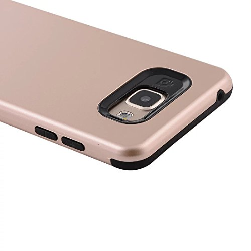 YHUISEN Galaxy A7 2016 Case, 2 In 1 PC + TPU Armor Hybrid Dual Layer Schutz Schock Absorption Hard Back Cover Fall für Samsung Galaxy A7 2016 A710 ( Color : Rose Gold ) Gold