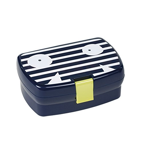 LÄSSIG Kinder Brotdose Lunchbox Snackbox spülmaschinengeeignet/Lunchbox, Little Monsters Bounding Bob