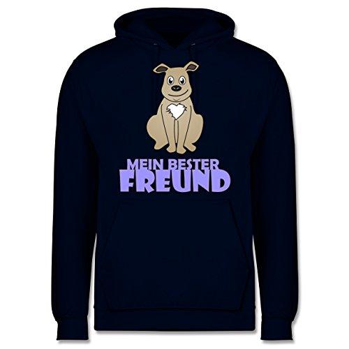 Hunde - Mein bester Freund Hund - Männer Premium Kapuzenpullover / Hoodie Dunkelblau