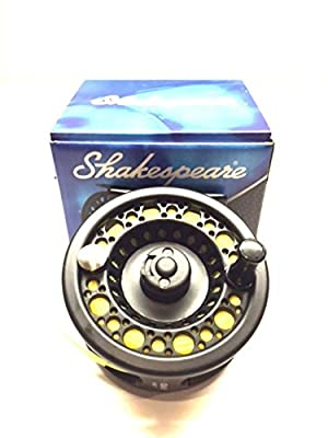 WF 7 Intermediate Shakespeare Fly Fishing Reel Large Arbour with Backing , Line , and Leader loop fitted from shakespeare