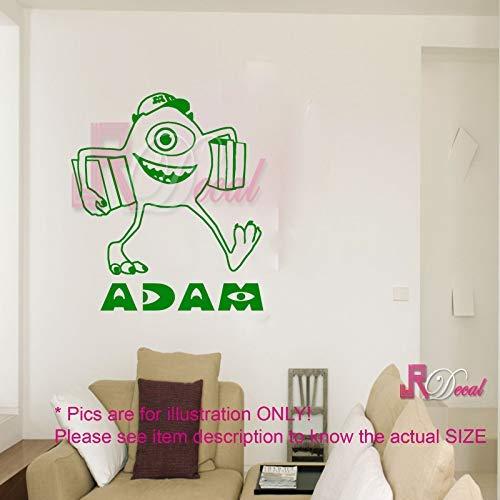 MIKE Monster Inc Uni personalisierte Wandkunst Aufkleber Wandbild Vinyl abnehmbare Kinderzimmer Dekor 1
