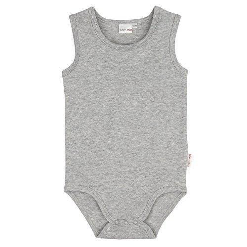 BORNINO Body ohne Arm Baby, Größe 98/104, grau