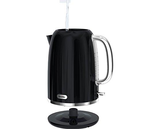 41UEEl908CL - Breville Impressions Electric Kettle, 1.7 Litre, 3 KW Fast Boil, Black [VKJ755]
