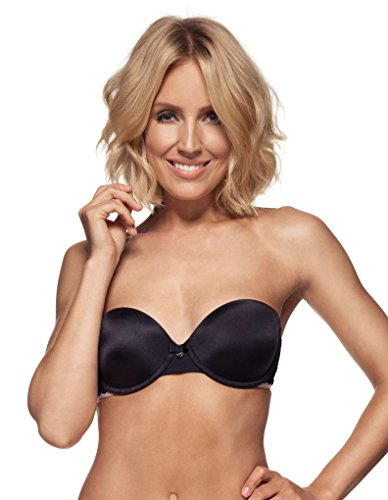 Berlei Beauty Form Black Petite Strapless Bandeau Bra B5061 36B