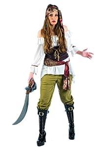 Limit Sport - Disfraz de pirata saqueadora para adultos, talla M (MA107)
