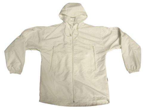 BE-X Schneetarn Jacke mit Kapuze, weiss, aus Mikrofasergewebe -wasserabweisend & schnelltrocknend zu BE-X