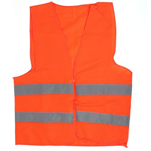 Unisex Reflecterende Traffic Safety Vest Safety 68cm x 57cm Oranje Rood Traffic Safety Vest
