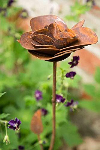 kuheiga Gartenstecker/Dekoblume Rose - 4