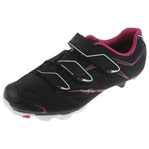 Northwave Katana 3S Fahrrad MTB Schuhe Klettverschluss Schuhplatte Cleats Rad Sport, 80142010, Farbe Schwarz Weiß Fuchsia, Größe 43 (Fahrrad-schuh-cleats)